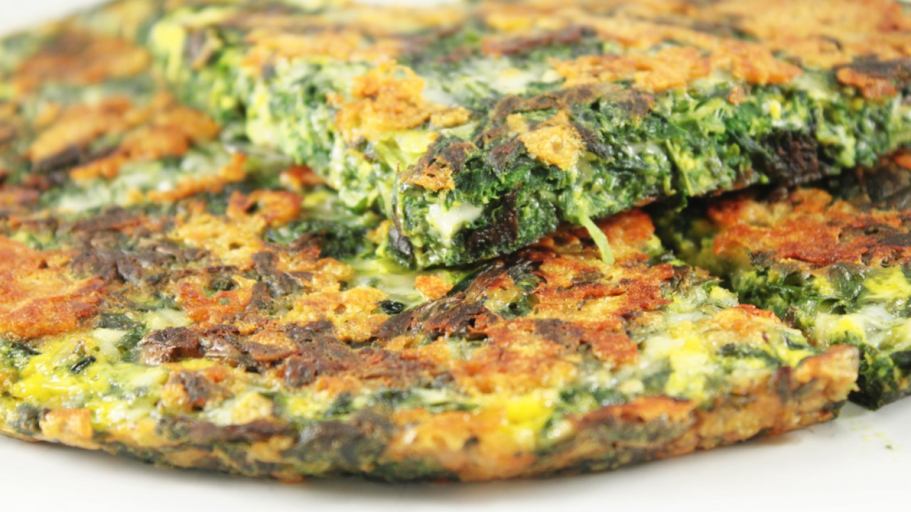 Frittata di spinaci for Cucinare spinaci
