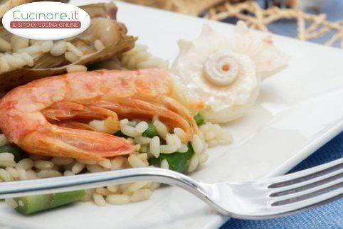 Risotto asparagi e scampi for Cucinare scampi