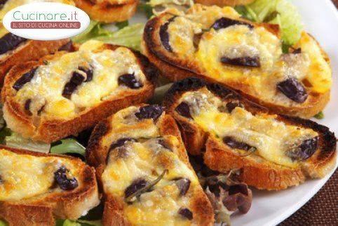 Bruschette con olive e mozzarella - Cucinare olive appena raccolte ...
