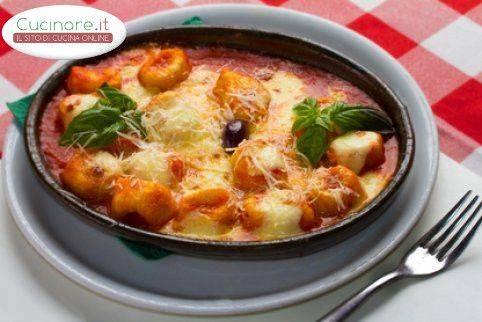 Ricette Gnocchi Gratinati Al Forno.Ricetta Gnocchi Alla Sorrentina Al Forno Cucinare It