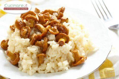 Risotto ai finferli for Cucinare risotto