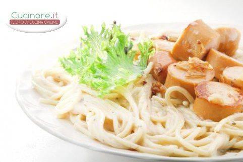 Carbonara con wurstel for Cucinare wurstel