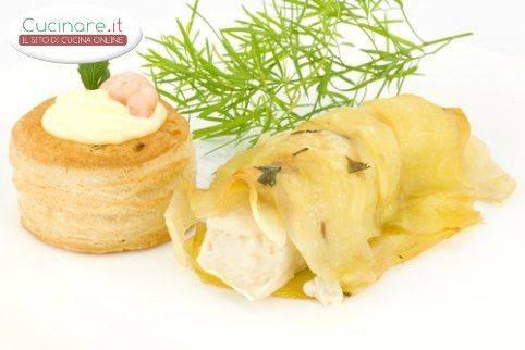 Filetto di branzino in crosta di patate for Cucinare branzino