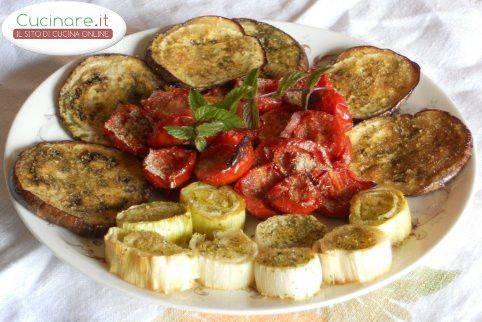 Tris di Verdure grigliate e gratinate al forno con Dragoncello