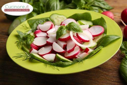 insalata di ravanelli e cetrioli