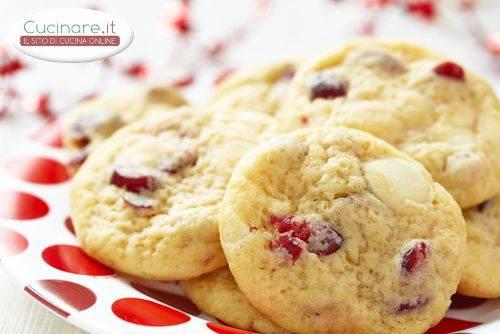 Ricetta Cookies Cioccolato Bianco E Mirtilli.Biscotti Con Mirtilli Rossi E Cioccolato Bianco Cucinare It