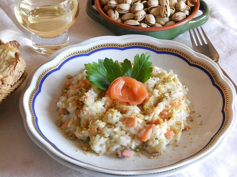 Risotto al salmone for Cucinare risotto