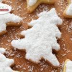 Biscotti Albero con cioccolato bianco e cocco