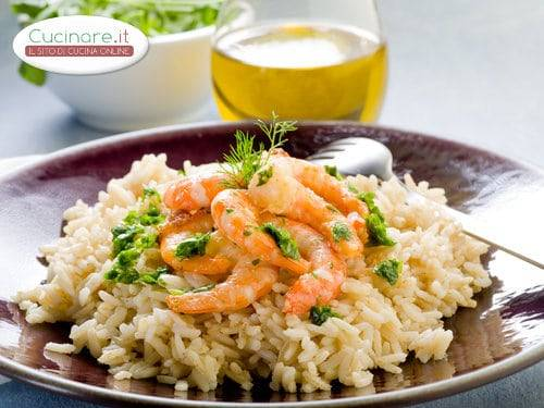Risotto con gamberi e spumante for Cucinare risotto