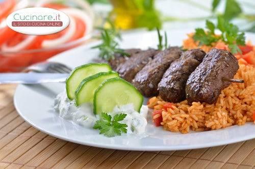Souvlaki di carne for Cucinare carne