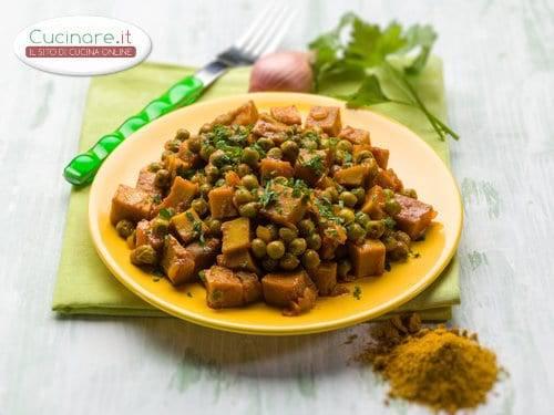 Spezzatino di seitan con piselli for Cucinare piselli