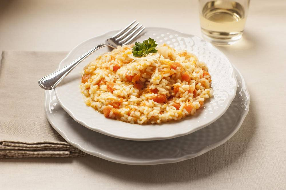 Risotto con zucca mele renette e amarone for Cucinare risotto