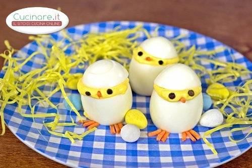 Pulcini di uova sode for Cucinare uova sode
