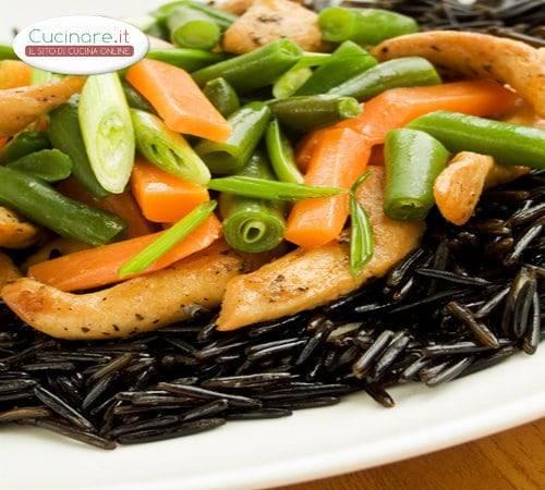 Riso nero con pollo fagiolini e carote for Cucinare carote