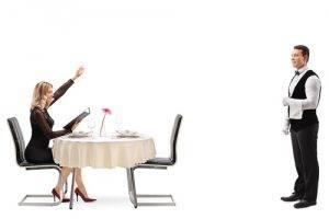 cone non farsi lasciare a cena