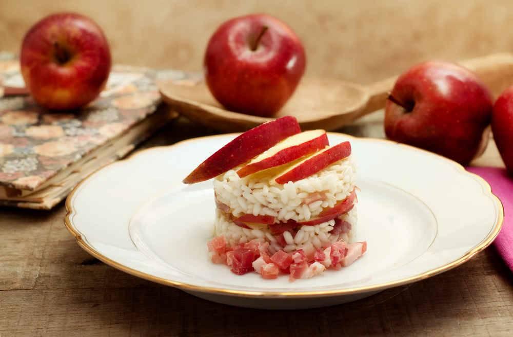 Risotto con mele stark e pancetta for Cucinare risotto