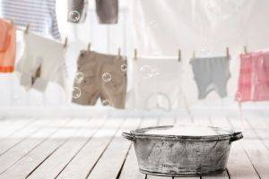Acqua di cottura per lavare biancheria