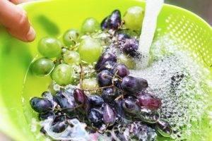 lavare l'uva