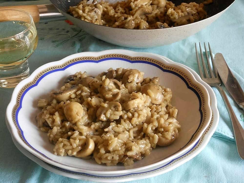 Risotto ai funghi for Cucinare risotto