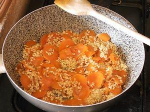 risotto alle carote preparazione 8