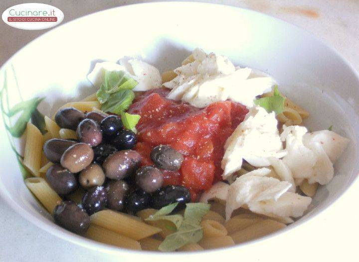 Penne al cartoccio con olive di gaeta e mozzarella - Cucinare olive appena raccolte ...